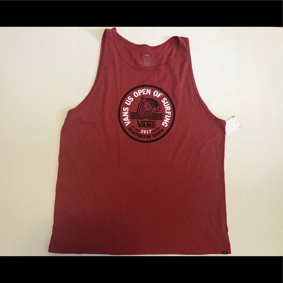 09fe6156e8 Van s Men s Red Tank Top Tee. M 5b92ced8fb3803ba4a40bfd6